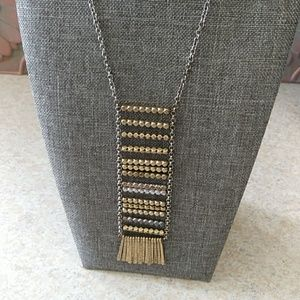 Lucky Brand metal fringe necklace